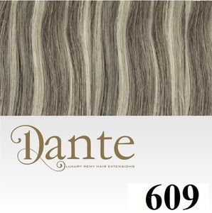 Afbeelding van Dante-flip Light - 30cm - Natural Straight - 609 Platinium Violet Blond - Ash Dark Blond