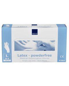 Abena Latex-handschoenen poedervrij Maat L wit 100st