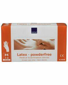 Abena Latex-handschoenen poedervrij Maat M wit 100st