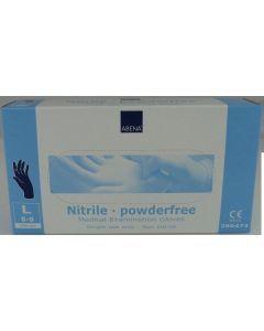 Abena Nitril-Handschoenen poedervrij Maat M blauw 100st
