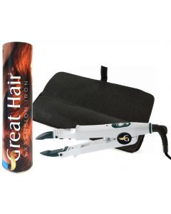 Great Hair Extensions warmtetang incl. hittebestendige etui
